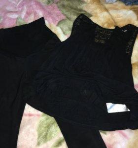 Тёплые штаны для беременных и кофточка