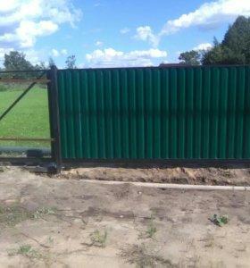 Ворота садовые с автоматикой и без