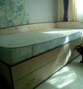 Детская кровать с ортопед.матрасом