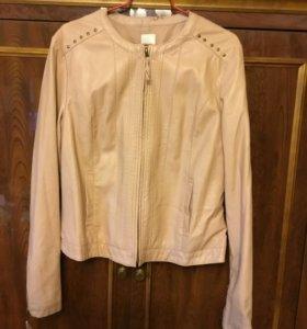 Куртка пиджак Camaieu иск кожа цвет сомо