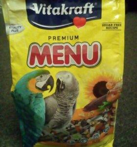 Корм для крупных видов попугаев