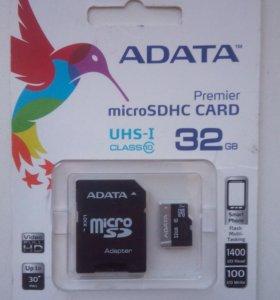 sd карта , microsd 32гб