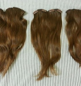 Волосы натуральные НЕКРАШЕНЫЕ на заколках