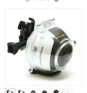 Экшн- камера с панорамной съемкой 360