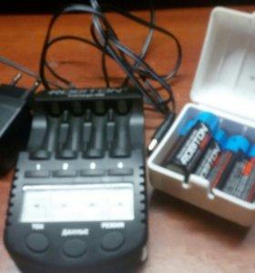 Зарядное устройство и 5 никелевых батареек