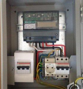 Соберу щит учета и распределения электропроводки