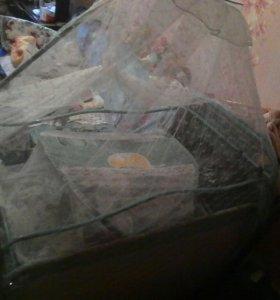 Кровать-манеж+люлька+балдахин