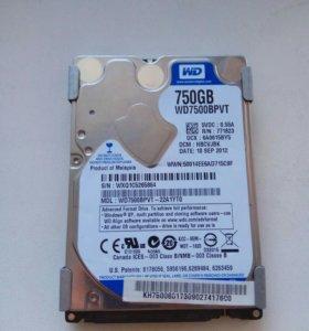 Неисправный жёсткий диск на 750gb