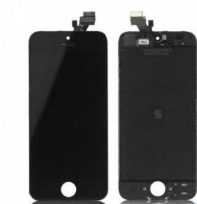 Дисплей iPhone 5,5S + тачскрин белый-черный