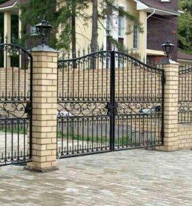 Кованые ворота артикул 42
