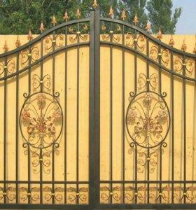 Кованые ворота артикул 41