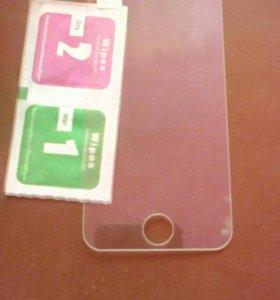 Защитное стекло для айфон 5 - 5s