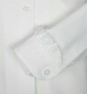 Блуза белая нарядная школьная