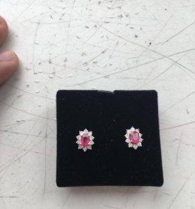 Macy's & Co Ruby Earrings