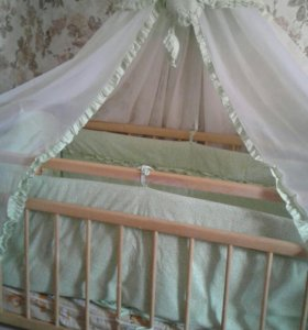 Кроватка+матрасик+бортики