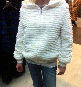 Куртка из французского рекса новая 1/2 стоимости