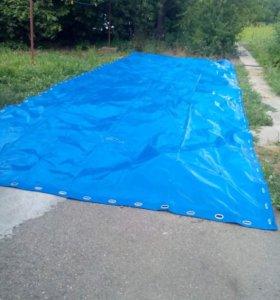 Тент брезентовый синий