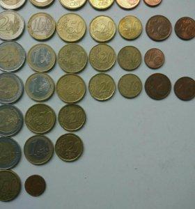 52 монеты Евросоюза 13 стран