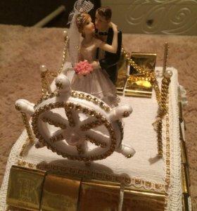 """Свадебное украшение """"Корабль"""""""