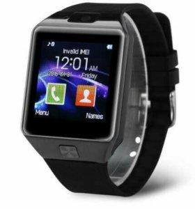 Умные смарт часы smart watch dz09 black