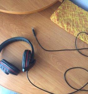 Наушники с микрофоном для компьютера и приставки