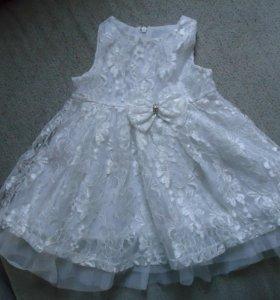 платье детское гипюровое