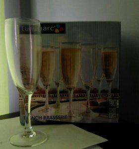Бокалы под шампанское. Новые.