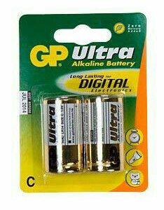 Батарея GP Ultra Alkaline 14AU LR14, 2 шт. C