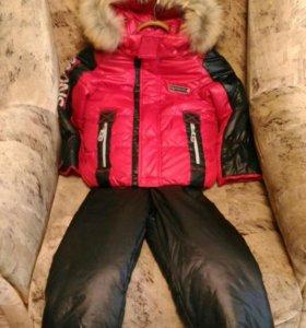 Кастюмчик на зиму куртка и штаны ( натуральный мех