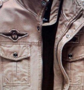 Куртка джинс хаки