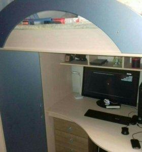 Кровать+рабочий стол+шкаф