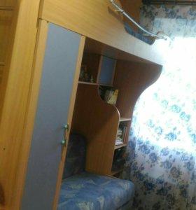 Двухярусная кровать диван шкаф