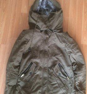 Парка куртка укороченная зимняя
