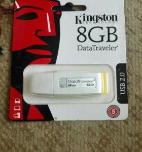 Флэшка Kingston 8 Gb (новая)