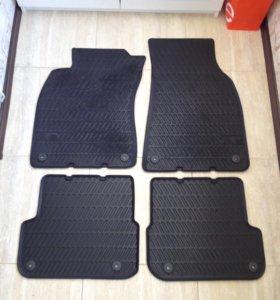 Резиновые коврики в салон, для Audi A6 4F (C6)