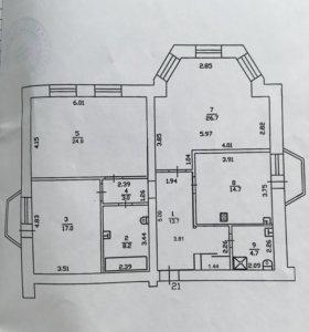 Квартира, 3 комнаты, 112.9 м²