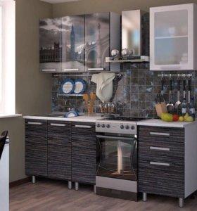Кухонный гарнитур НОВЫЙ 1,6м с фотопечатью