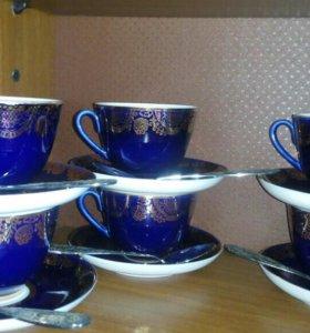 Продам форфоровый чайный сервиз ЛФЗ