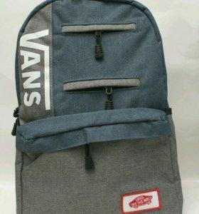 Новый! рюкзак Vans сине-серый.