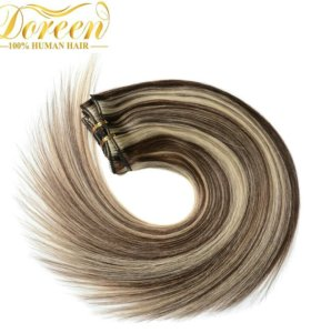 Волосы натуральные на заколках(40 см)