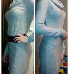 Платье шерстяное из тонкой шерсти
