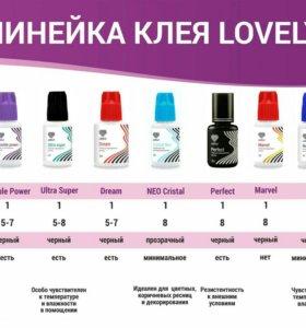 Материалы для наращивания и ламинированная ресниц