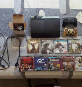 Sony Playstsion 3 500GB, 2 джойстика, 10 игр.