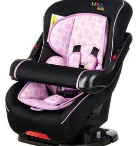 Автокресло Liko-Baby LB 301 Черный/Фиолетовый