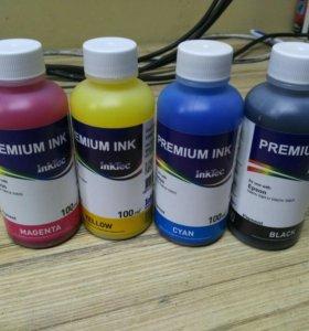 Краски для принтеров Epson 4 цвета пигментные