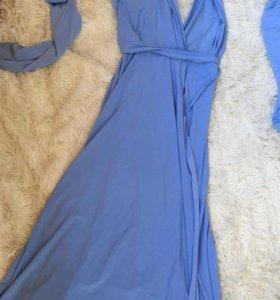 Платье трансформер с голой ножкой