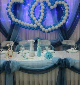 Тканевое оформление свадьбы