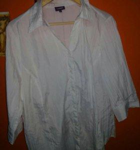 Белая рубашка 46р.
