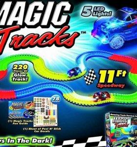 С ДВУМЯ Машинками Magic Tracks, 220 деталей !!