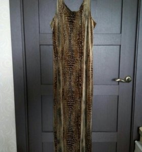 Платье вечернее бархат хб разм 40 (48 россия)
